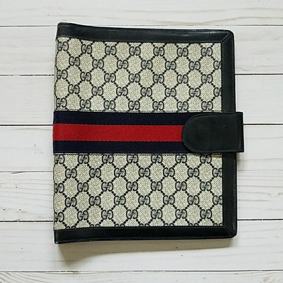 3fc6e3317a59a4 Gucci Accessories - Authentic Vintage Gucci Monogram agenda